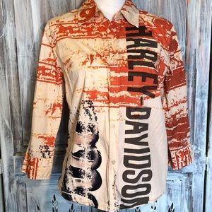 Harley-Davidson button down shirt